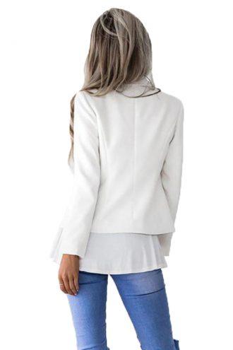 White-Slim-Bodycon-Long-Blazer