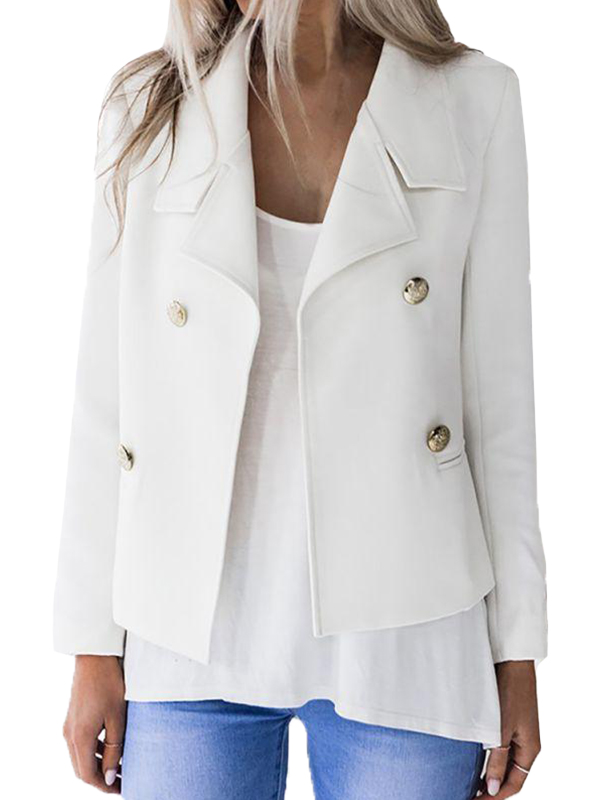 White-Slim-Bodycon-Long-Blazer