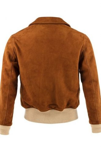 Vintage Suede Bomber Leather Jacket For Women