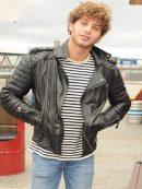 Street Style Eyal Booker Leather Jacket For Men