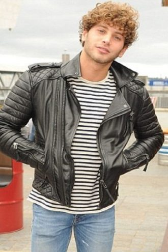 Street Style Eyal Booker Leather Jacket For Men