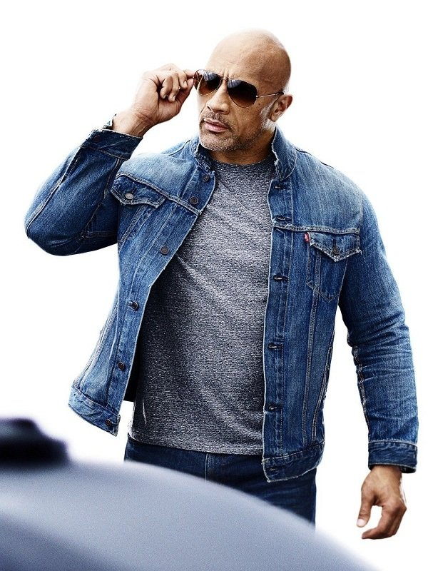 Dwayne Johnson Denim Blue Jacket
