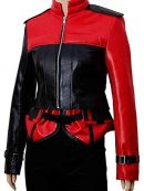 Injustice 2 Harley Quinn Red And Black Leather Jacket With Vest