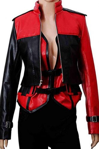 Injustice 2 Harley Quinn Leather Jacket & Vest for Women's