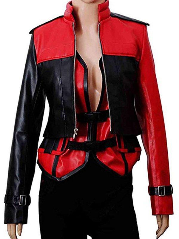 Injustice 2 Harley Quinn Leather Jacket & Vest for Women's