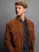 Jace Norman Brown Leather Jacket