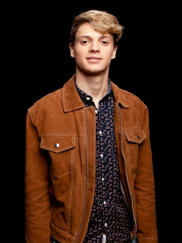 Jace Norman Stylish Suede Brown Leather Jacket