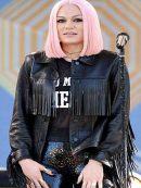 Jessie J Fringe Leather Jacket