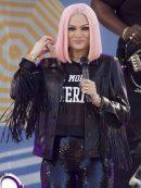 NY Concert Jessie J Fringe Black Jacket