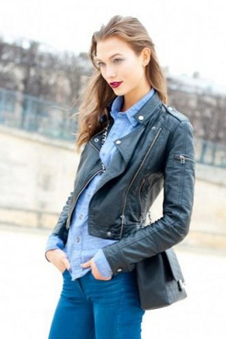 Karlie Kloss Black Jacket