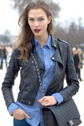 American Model Karlie Kloss Leather Jacket