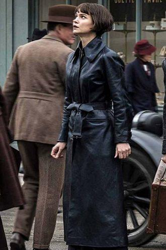 Fantastic Beasts The Crimes of Grindelwald Tina Goldstein Leather Coat