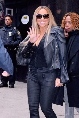 Mariah Carey Motorcycle Leather Jacket
