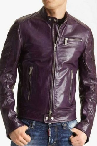 Men's Classic Style Motorcycle Leather Jacket