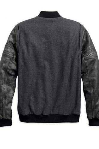 Harley Davidson Bomber Leather Jacket For Men