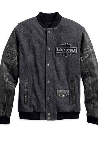 Men's H-D Bomber Leather Jacket
