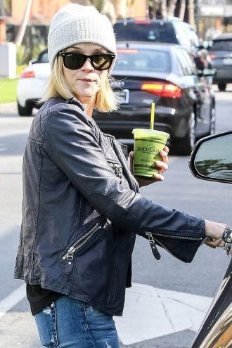 Reese Witherspoon Quilted Black Jacket