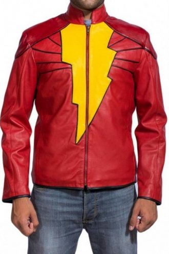 Shazam Billy Batson Leather Jacket