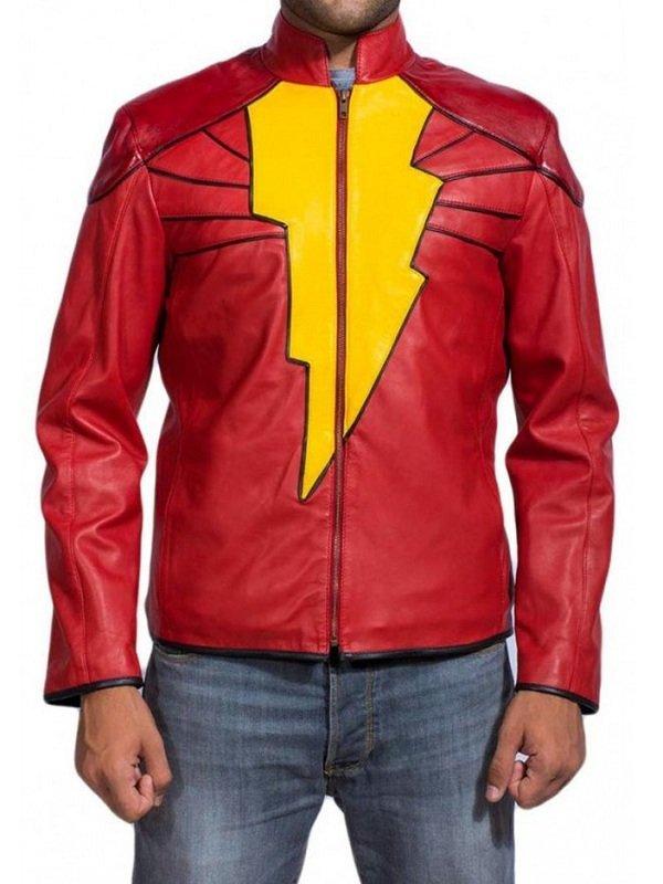 Shazam Billy Batson Leather Jacket