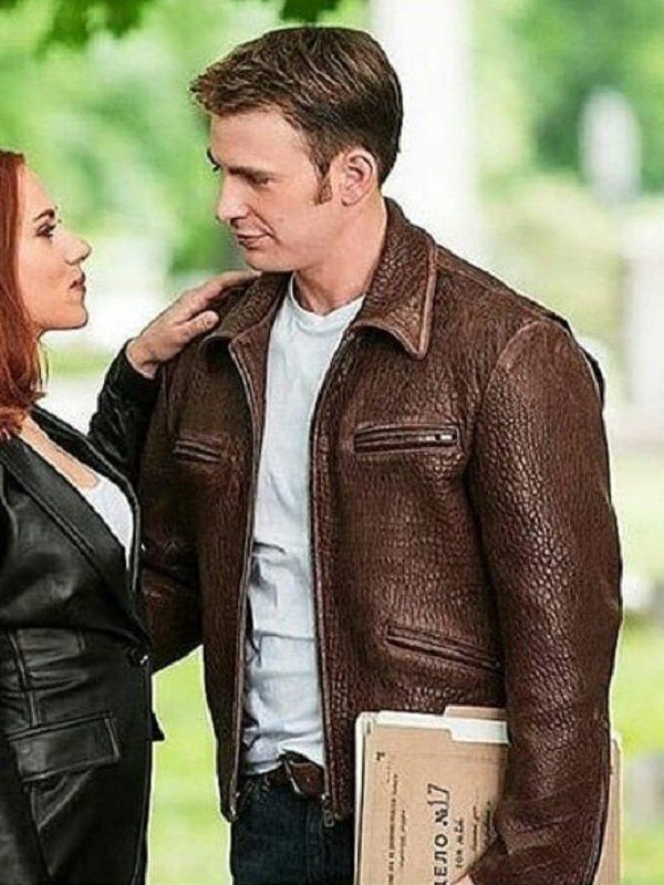 Captain America Steve Rogers Leather Jacket