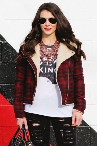 TCJ Stylish Flannel Jacket For Women