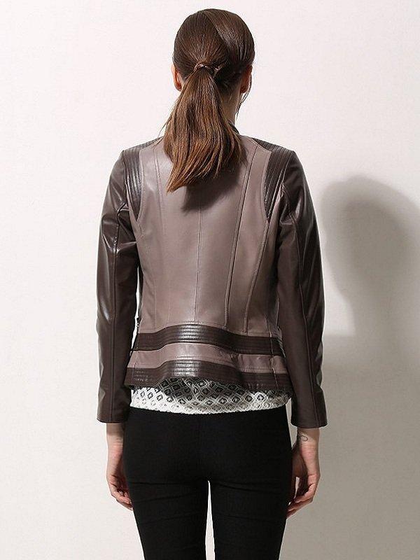 Women Moto Biker Asymmetrical Style Jacket