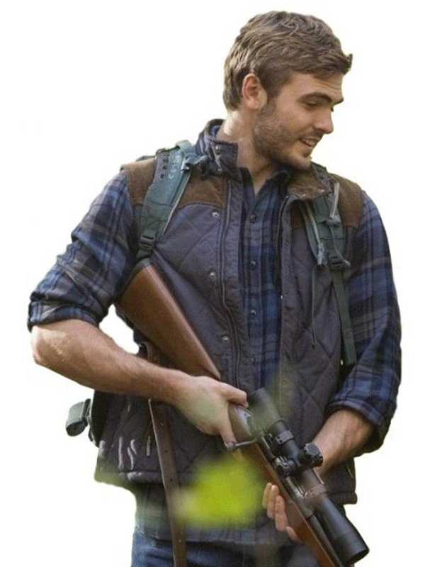The 5th Wave Evan Walker Blue Diamond Quilted Vest
