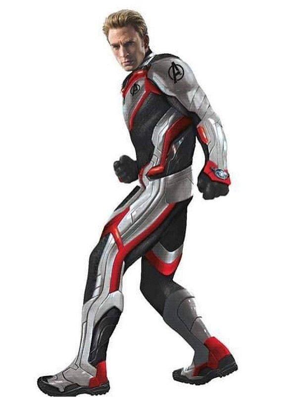 Captain America Avengers Endgame Cosplay Leather Jacket