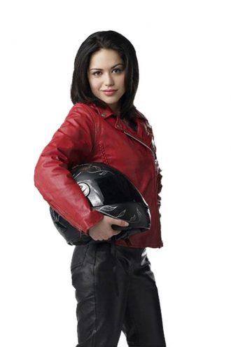 Ben 10 Alien Swarm Elena Validus Red Leather Jacket