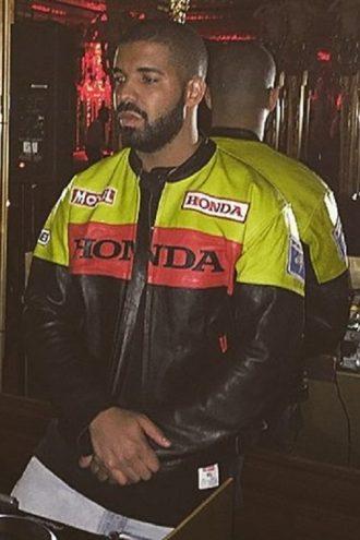 Musician Drake Motorbiker Leather Jacket