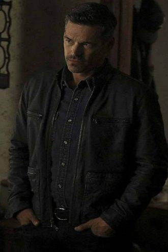 Eddie Cibrian Take Two TV Series Eddie Valetik Black Leather Jacket