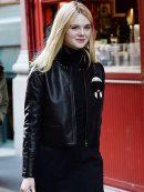 Elle Fanning Leather Jacket