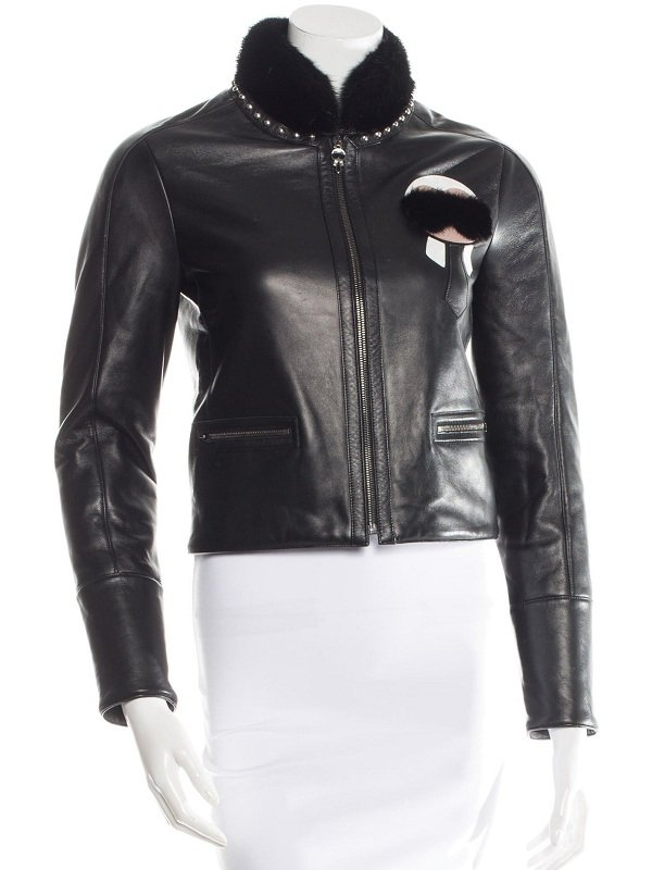 Elle Fanning New York Leather Jacket