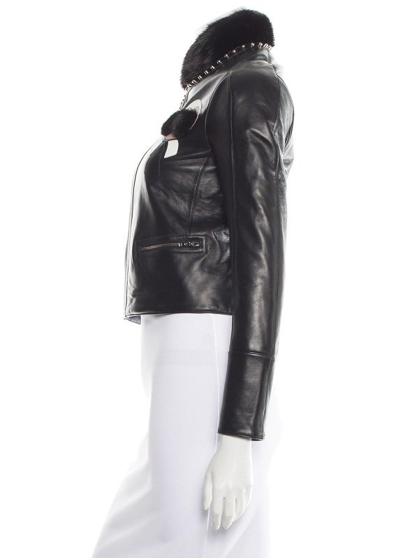Elle Fanning New York Black Leather Jacket