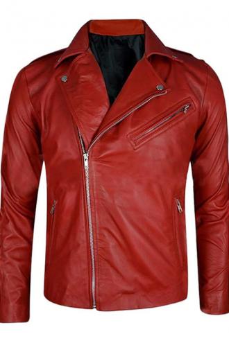 WWE Finn Balor Red Leather Jacket