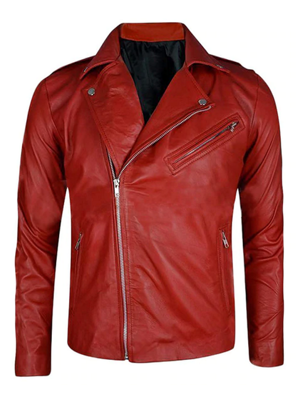 WWE Finn Balor Red Leather Jacket