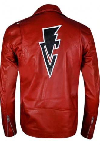 WWE Finn Balor Club Red Leather Jacket