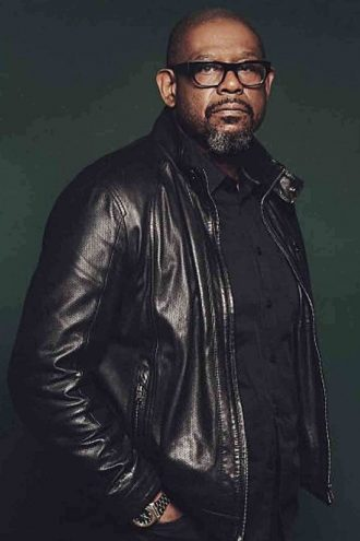 Forest Whitaker Causal Wear Black Leather Jacket