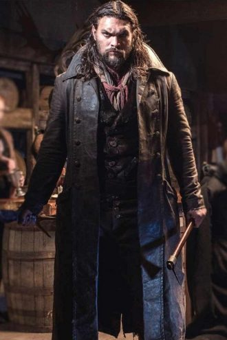 Frontier Jason Momoa Leather Trench Coat
