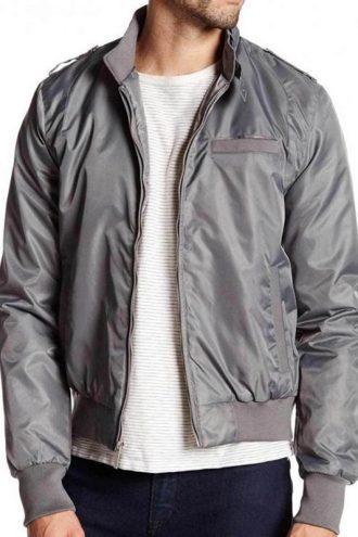 Stranger Things Steve Harrington Grey Satin Bomber Jacket