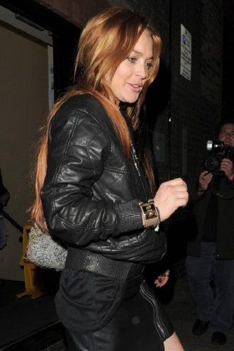 Lindsay Lohan Chiltern Firehouse Bomber Jacket