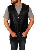 Cowboy Style Leather Vest For Men