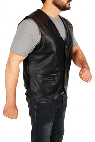 Cowboy Style Leather Vest