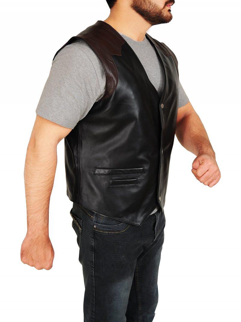 Cowboy Style Leather Vest