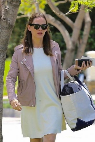 Mother's Day Jennifer Garner Leather Jacket