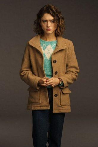 Stranger Things Nancy Wheeler Wool Jacket
