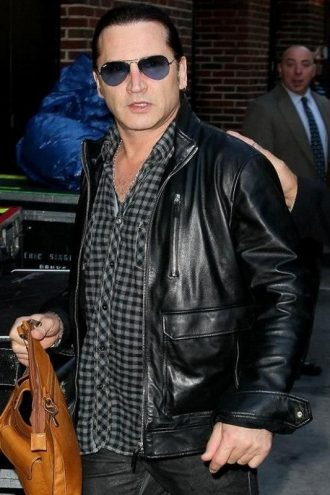 Drummer And Singer Eric Leather Jacket