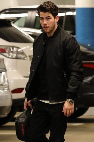 Nick Jonas Black Cotton Jacket