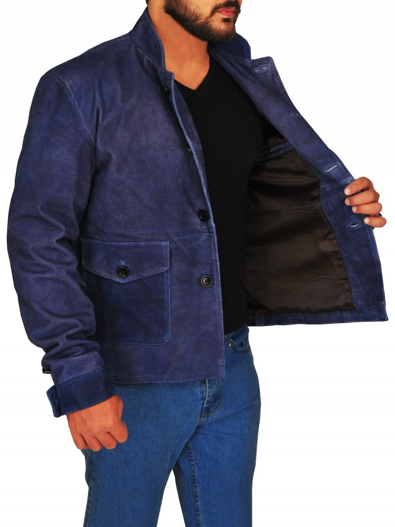 Star Trek Beyond Commander Spock Stylish Suede Jacket