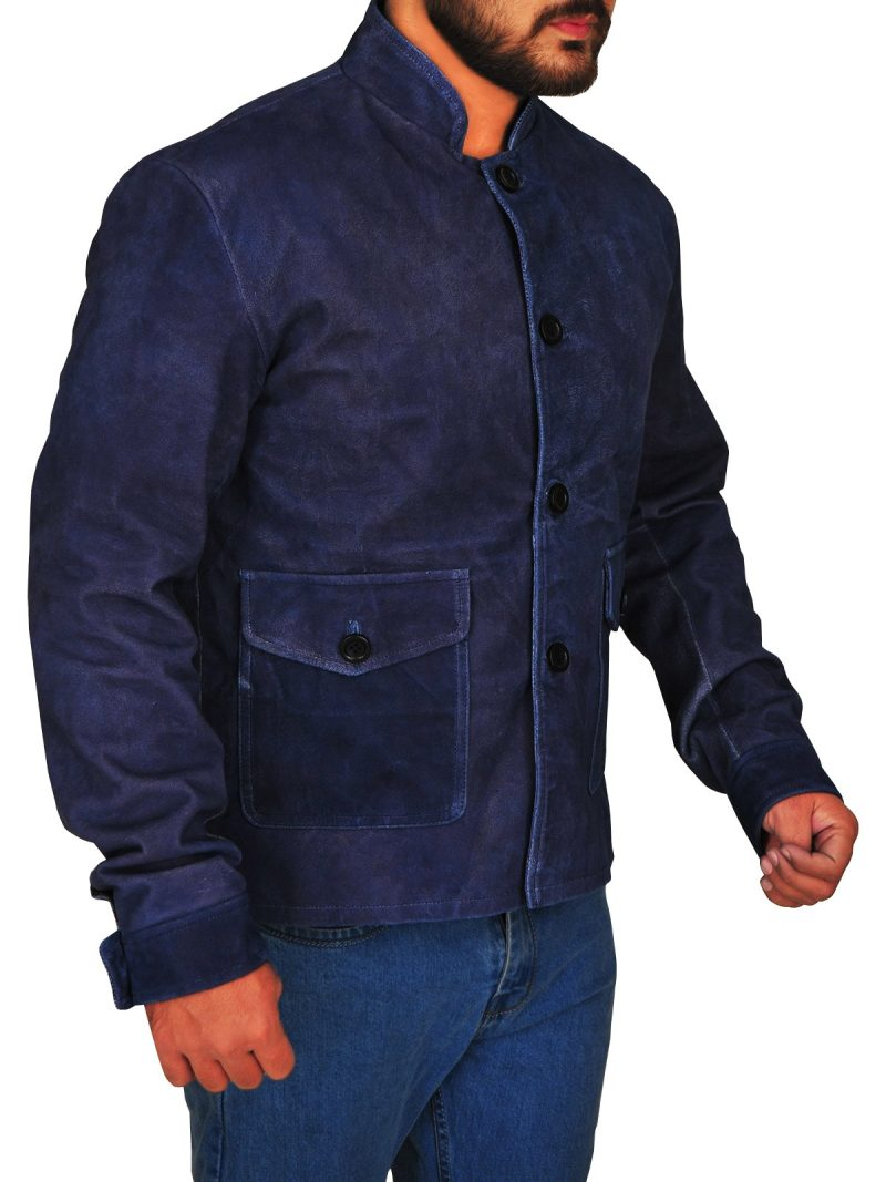 Commander Spock Suede Leather Blue Jacket